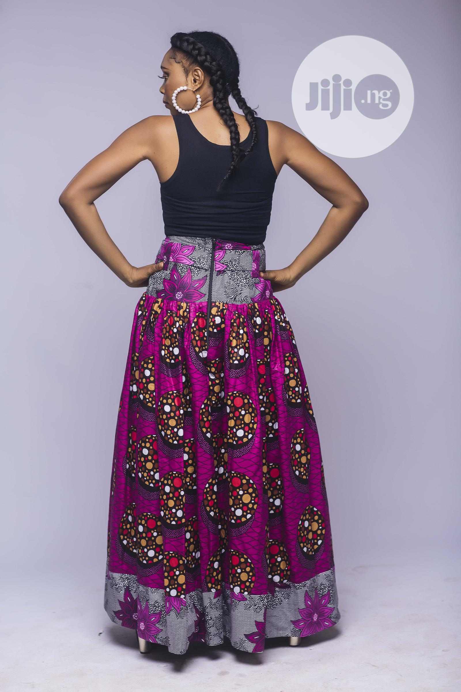 African Print, Ankara Maxi Skirt, Long Skirts, African Cloth | Clothing for sale in Yaba, Lagos State, Nigeria