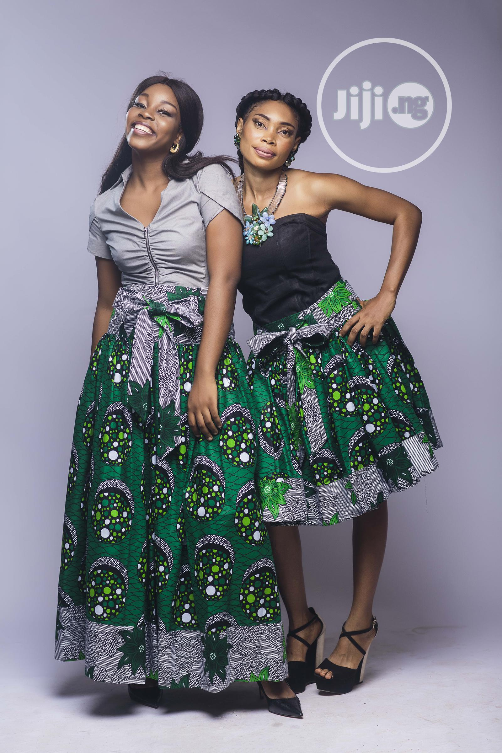 African Print, Ankara Maxi Skirt, Long Skirts, Green | Clothing for sale in Yaba, Lagos State, Nigeria