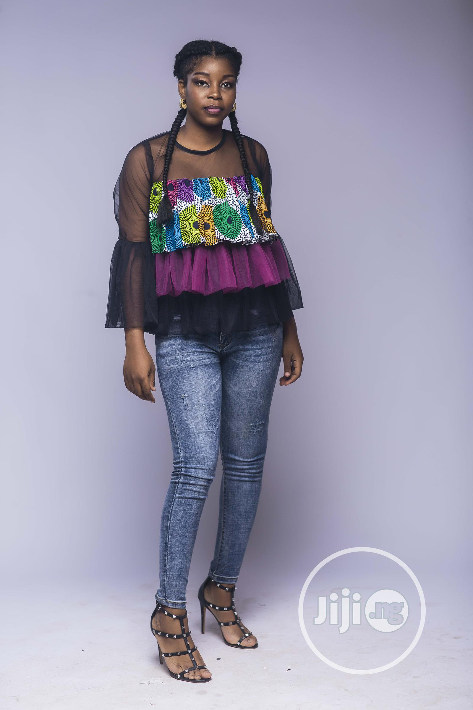 African Print , Ankara Frilly Layered Top, Pink | Clothing for sale in Yaba, Lagos State, Nigeria
