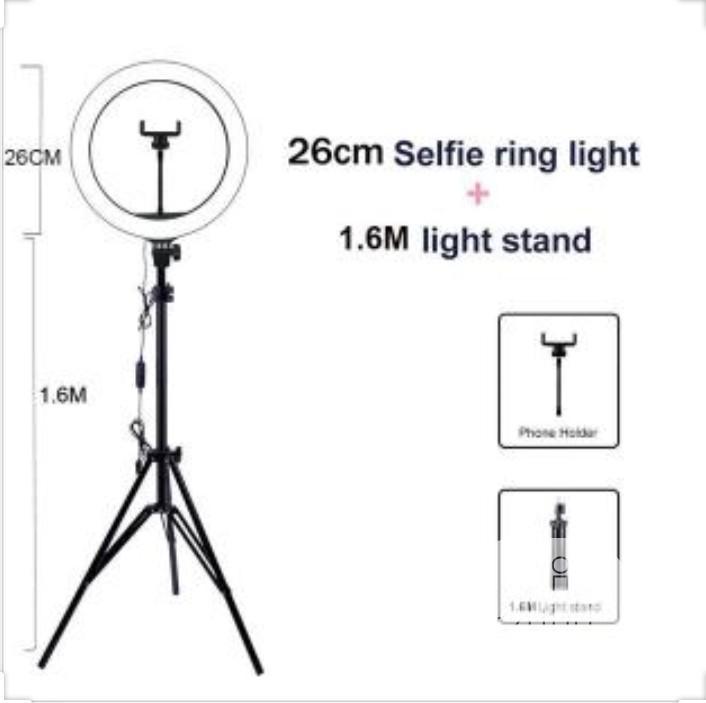 Led Selfie Ring Light And Phone Holder