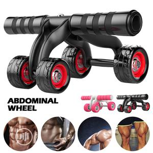 4 Wheel Abdominal Power Wheel Muscle Fitness Equimpment | Sports Equipment for sale in Rivers State, Port-Harcourt