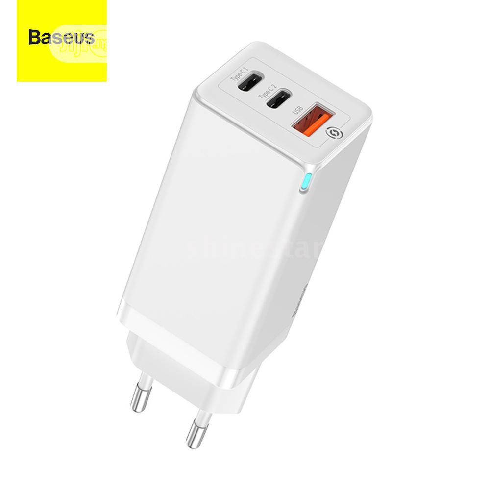 Baseus 65W Ganfast Mini Quick Travel Charger   Accessories for Mobile Phones & Tablets for sale in Ikeja, Lagos State, Nigeria