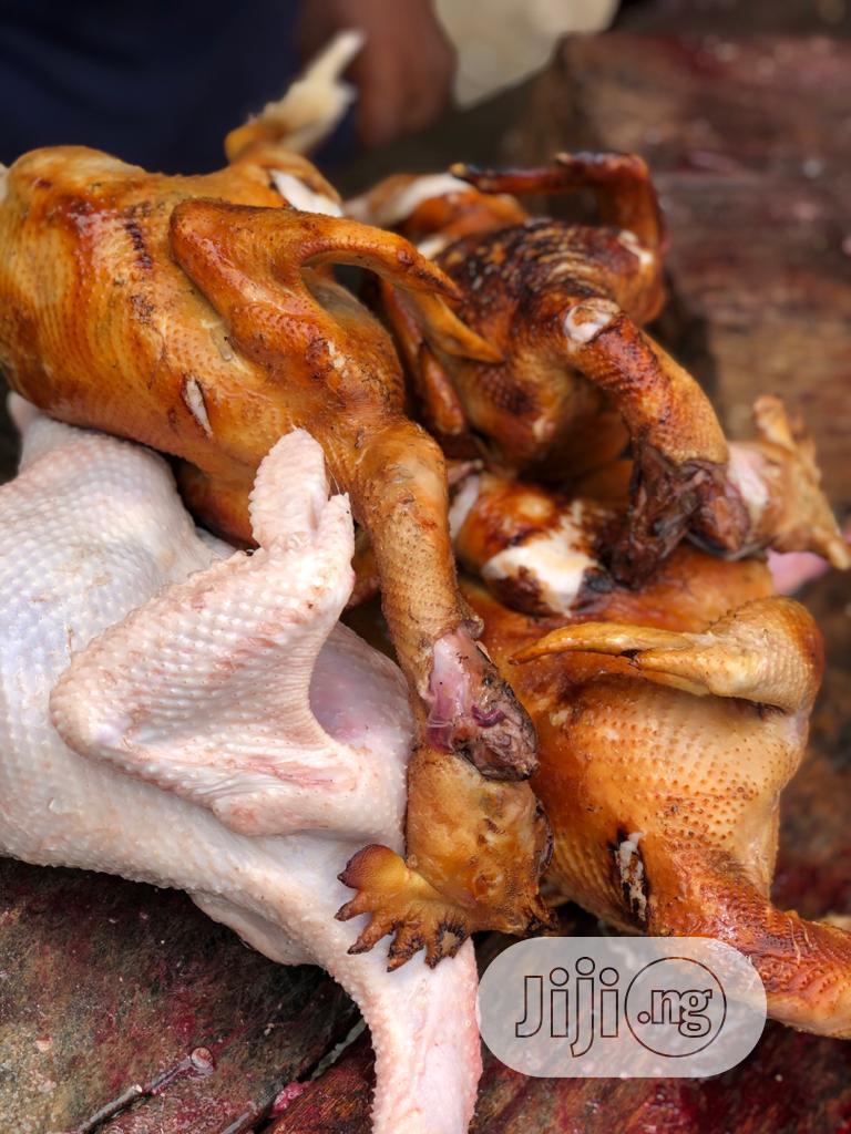 As E Dey Hot Smoked Chicken, Croacker Fish, Turkey Etc