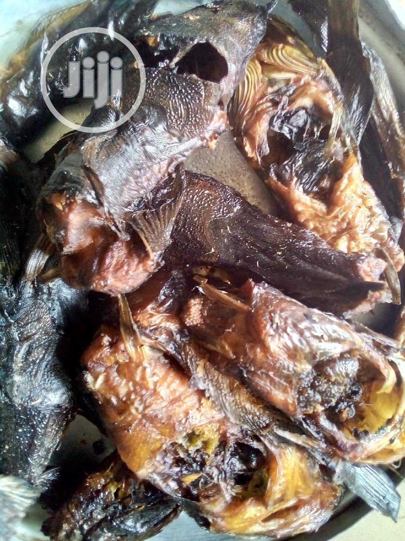 Dried Catfish   Fish for sale in Ugheli, Delta State, Nigeria