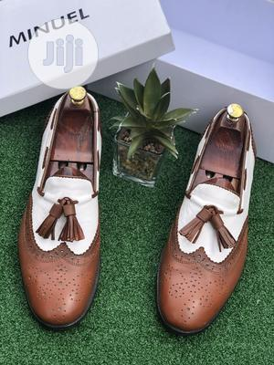 Brown And White Leather Loafers   Shoes for sale in Lagos State, Mushin