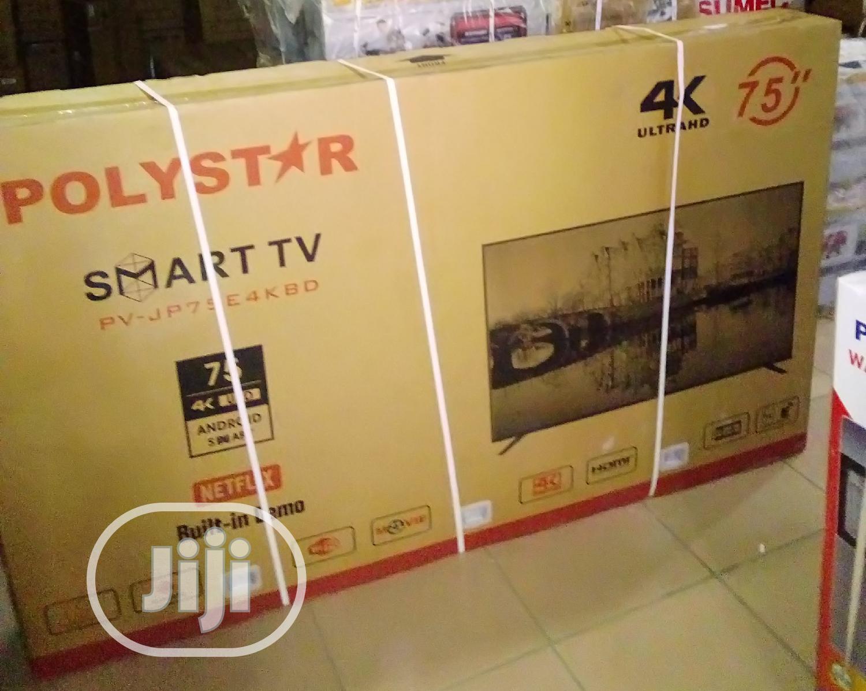 "Polystar 75"" Pv-jp75e4kbd Smart TV 4K Ultrahd"