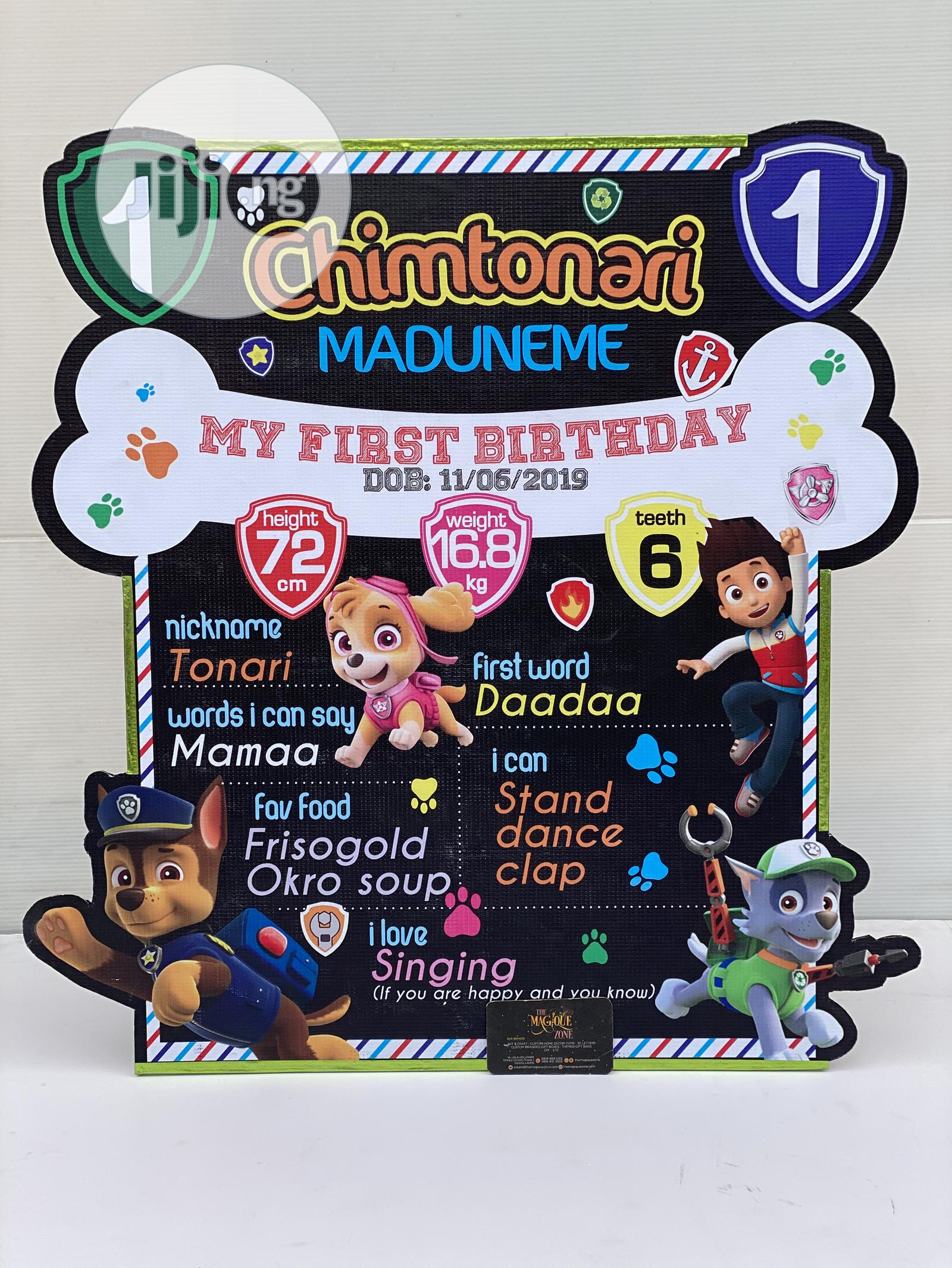 Archive: 3D Custom Made Pjmask Themed Milestone Board