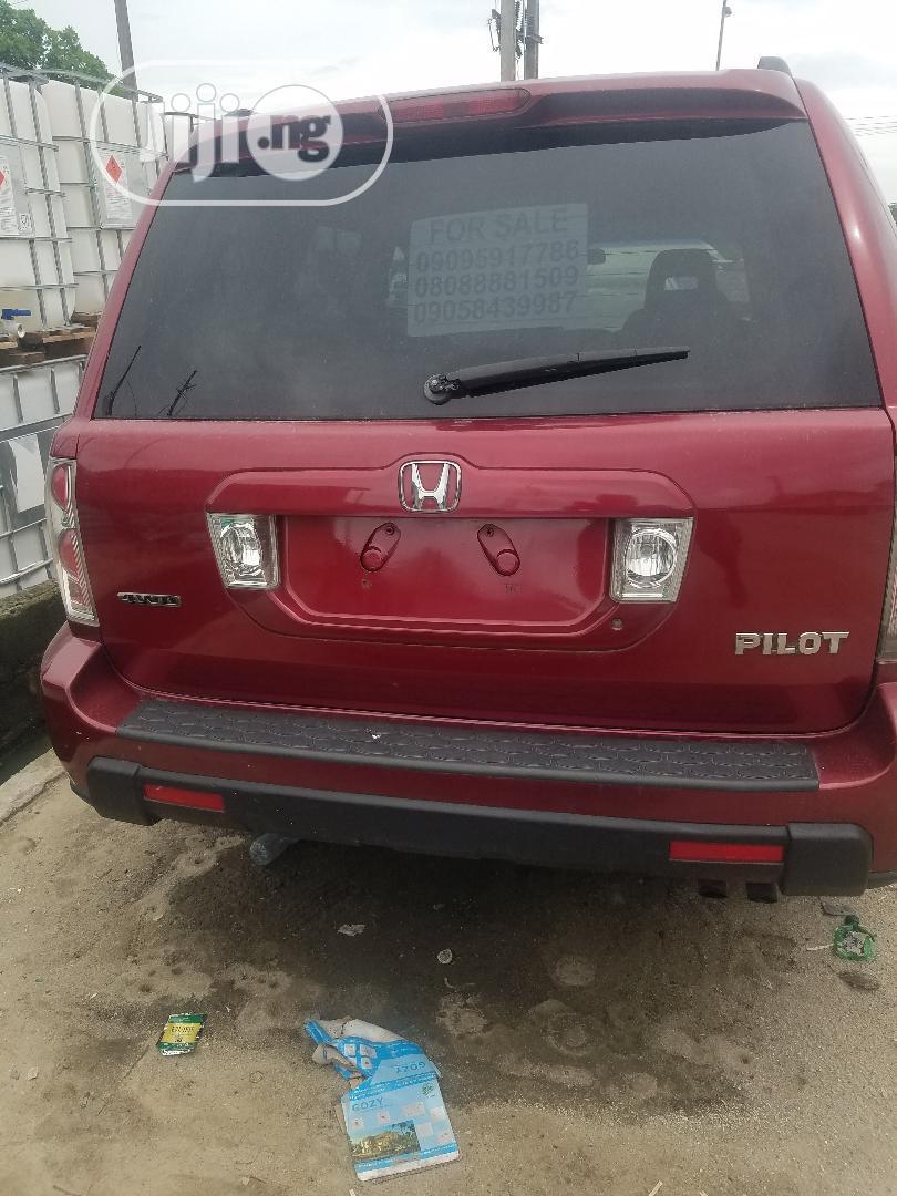 Honda Pilot 2006 EX-L 4x4 (3.5L 6cyl 5A) Red | Cars for sale in Lekki, Lagos State, Nigeria