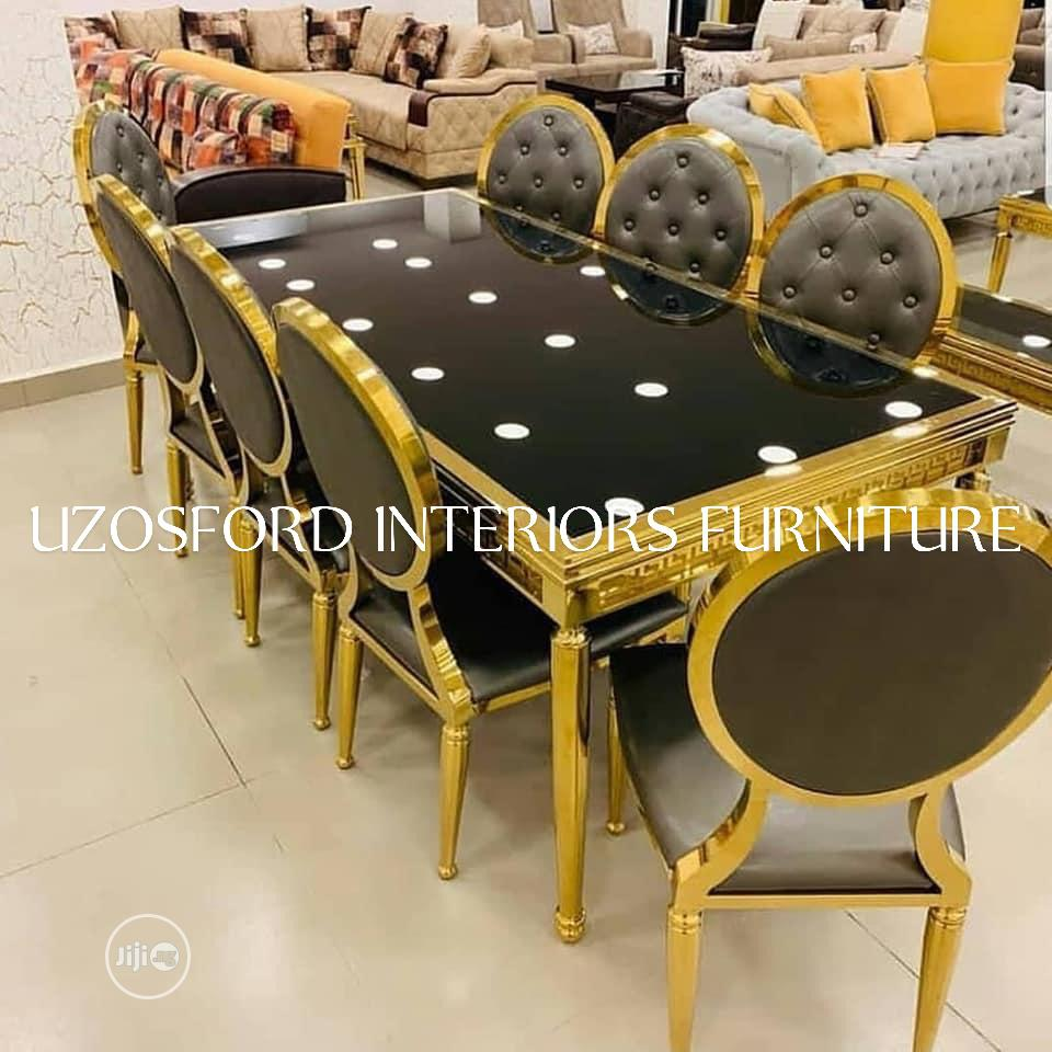 Executive Gold Dining Table