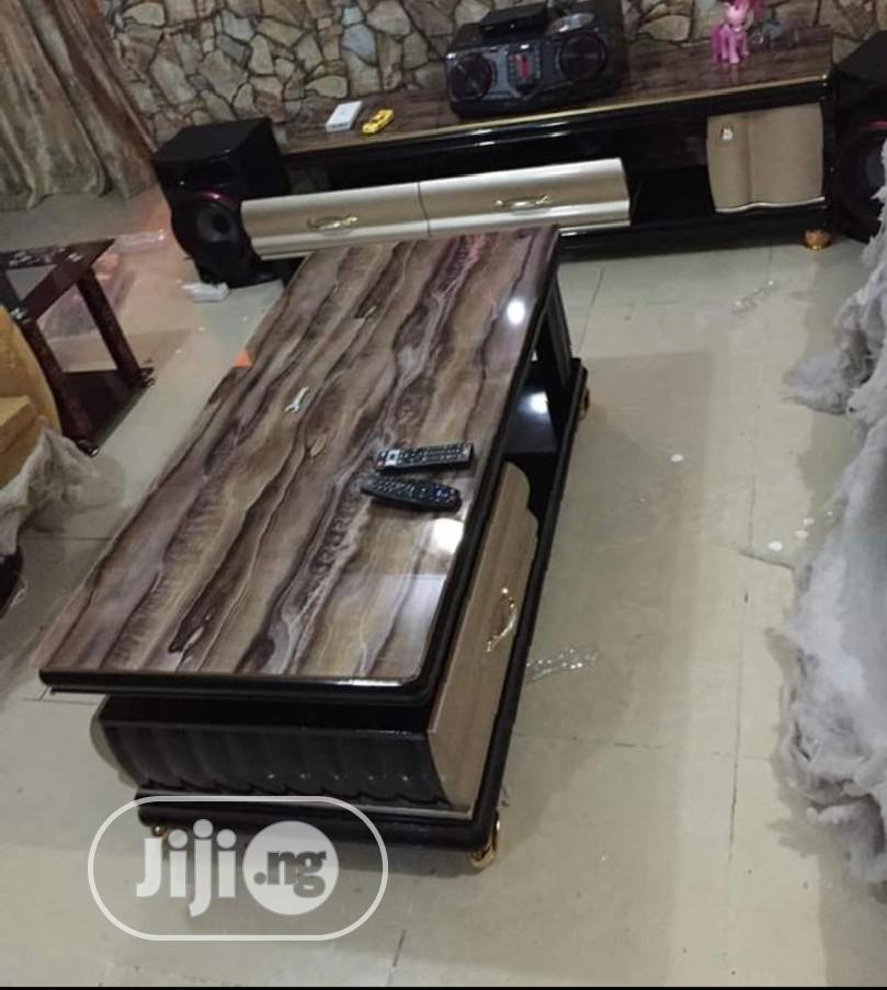 Unique Set of 1.5mtr Adjustable TV Stand and Center Table