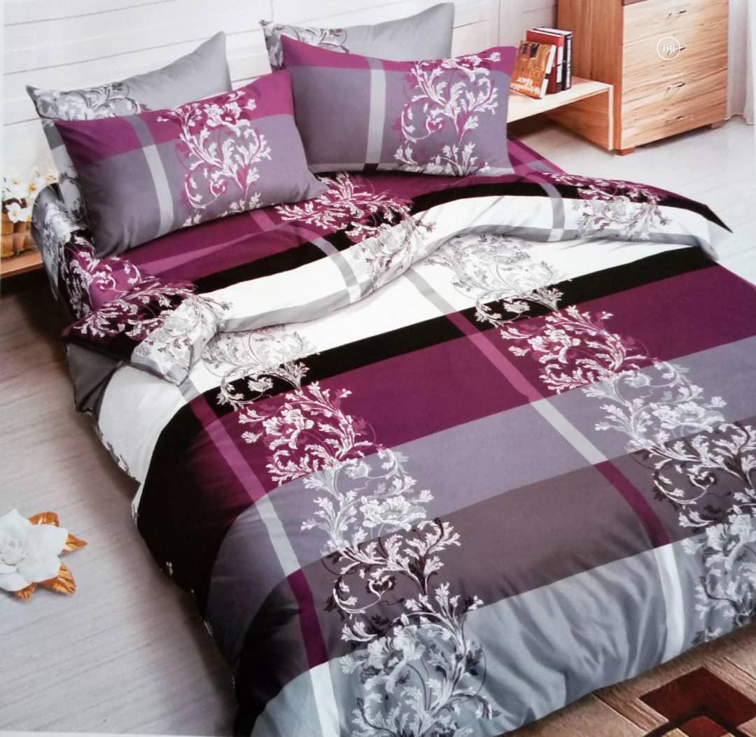 Purple Grey Duvet/Bedsheet Set