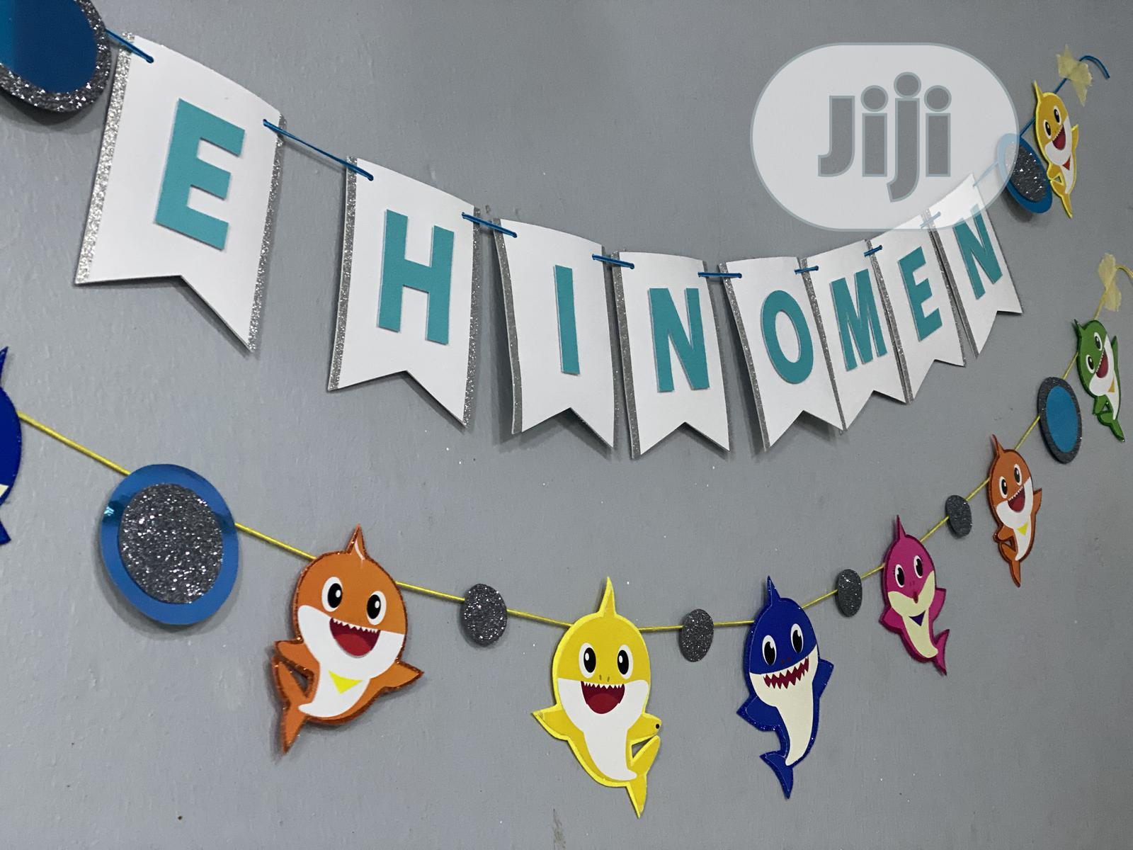 Archive: Baby Shark Themed Bunting Banner Party Prop