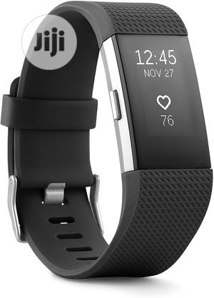 Fitbit Charge 2 Heart Rate + Fitness Wristband - Black | Smart Watches & Trackers for sale in Lagos State, Ikeja