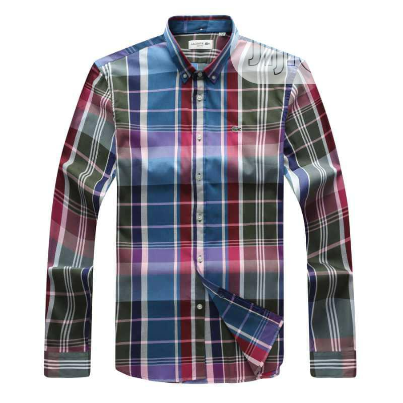 Lacoste Packet Checkers Shirt Original | Clothing for sale in Surulere, Lagos State, Nigeria