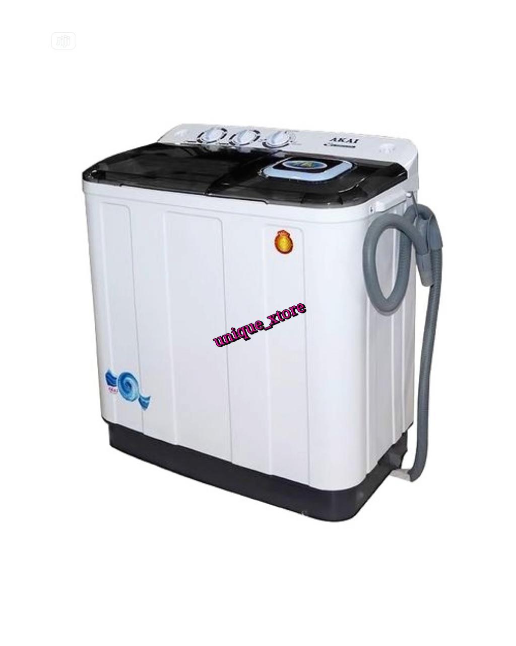 AKAI 7.0kg Twin Tub Washing Machine - SPINNING + DRAINING | Home Appliances for sale in Onitsha, Anambra State, Nigeria