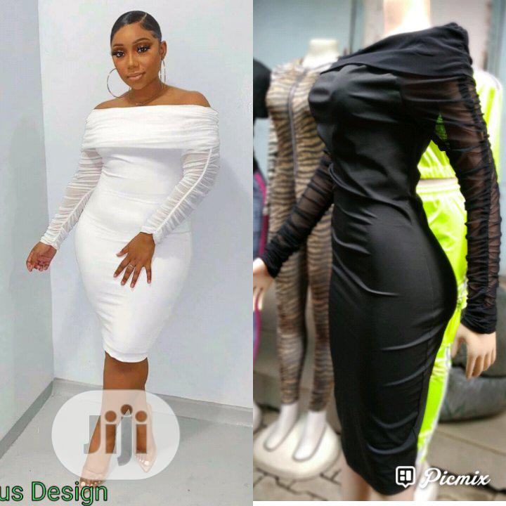 Cute Off Shoulder Bodycon Dress | Clothing for sale in Ikeja, Lagos State, Nigeria