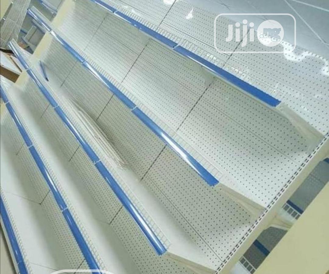 Double Sided Supermarket Shelf( Blue)