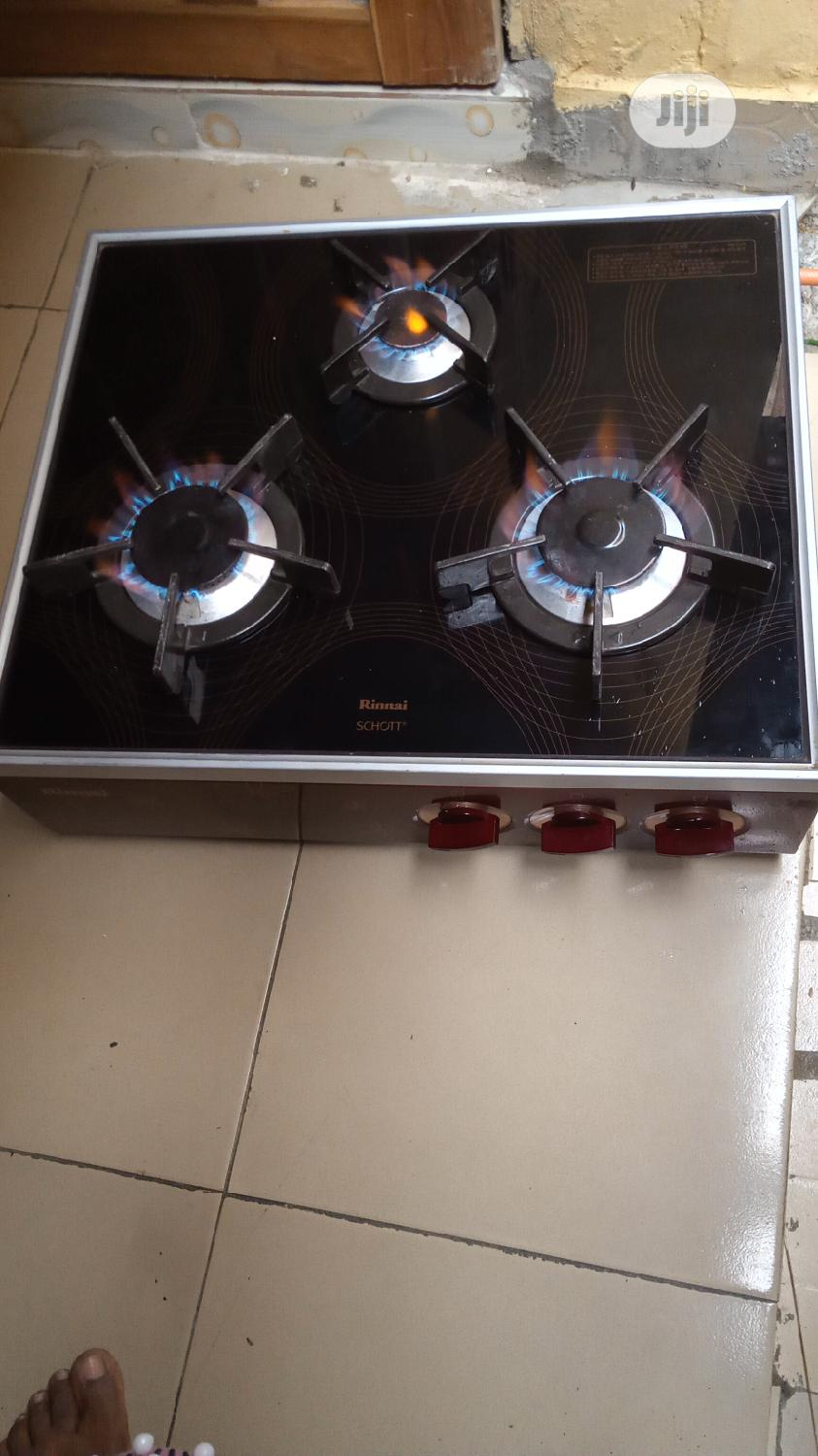 Strong Rinnai 3burner Gas Cooker With Glass Top From Korea
