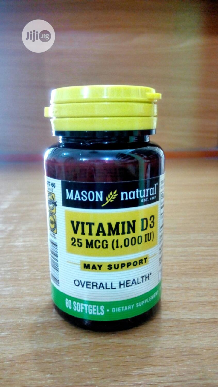 Mason Natural Vitamin D 25MCG (1000IU) X 60