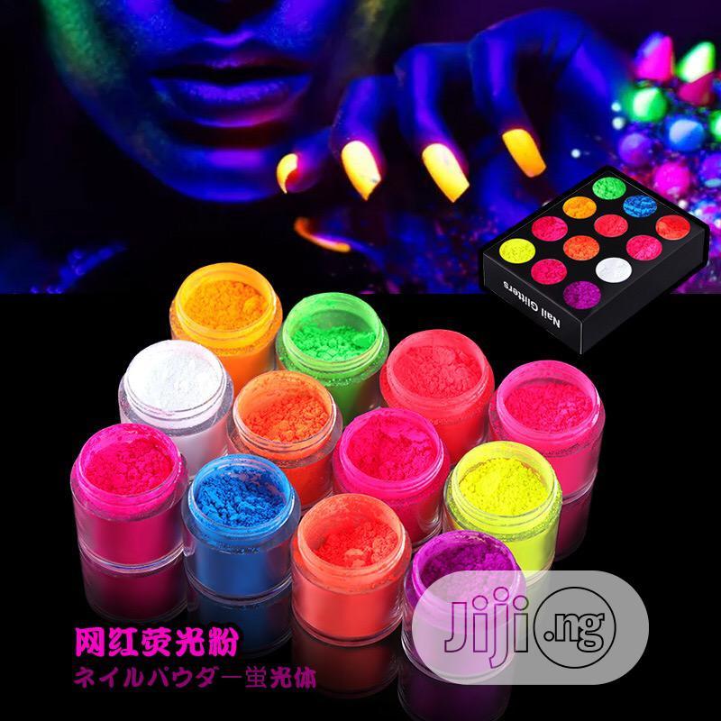 Archive: 12 Colors Fluorescent Powder Nail Glow In Dark Luminous Art