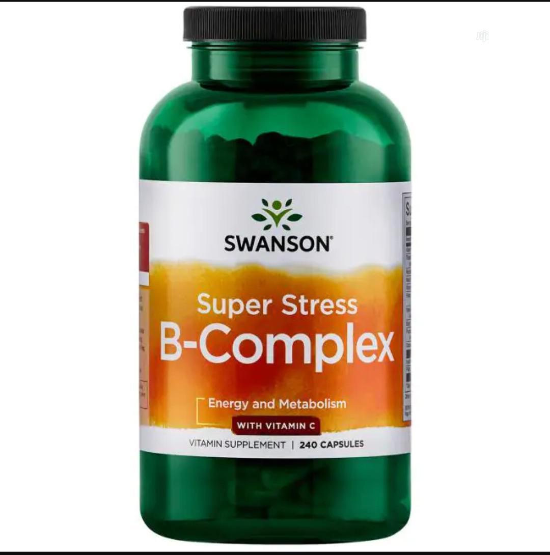 Swanson Super Stress Vitamin B-Complex With Vitamin C