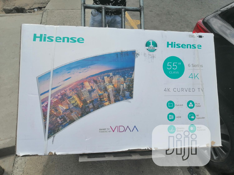 "Hisense 4k Curved Tv 55"""