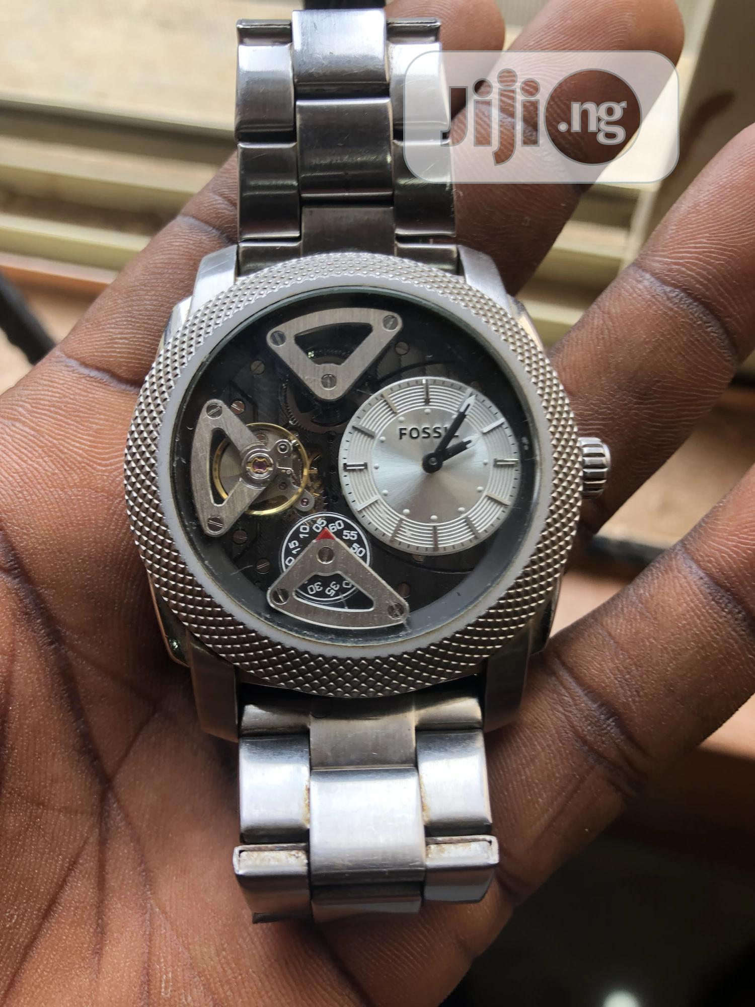 Fossil Wristwatch Stainless Steel | Watches for sale in Alimosho, Lagos State, Nigeria