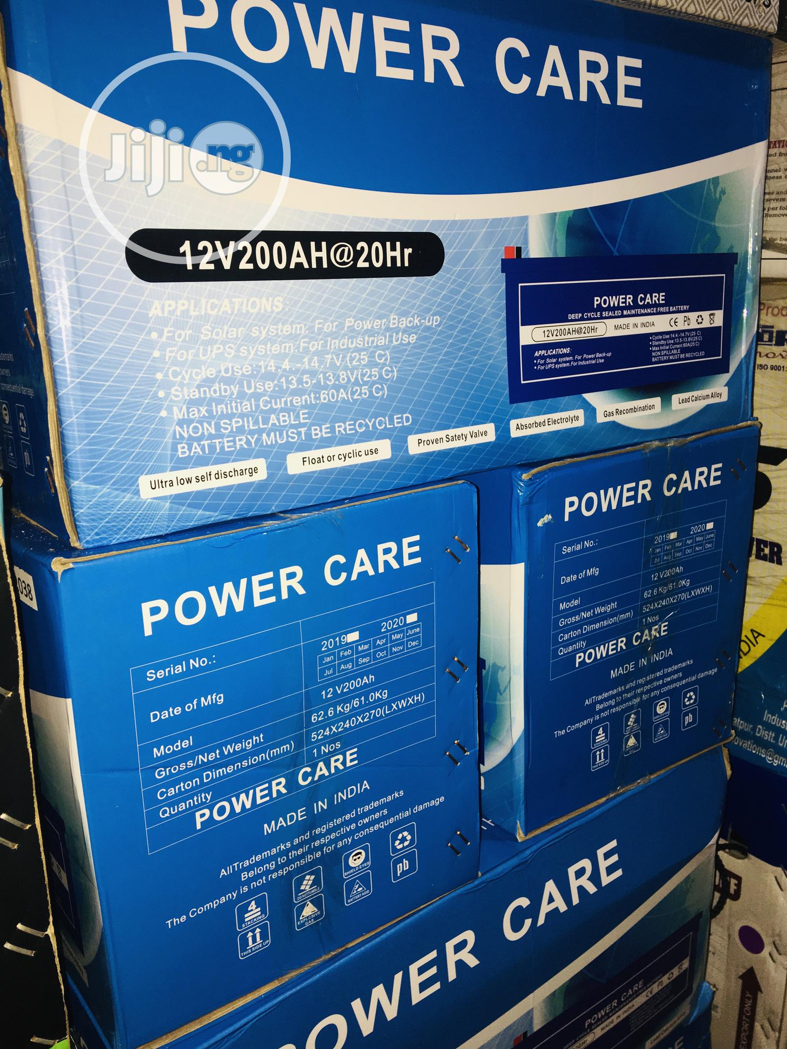 200ah 12volts Power Care Battery
