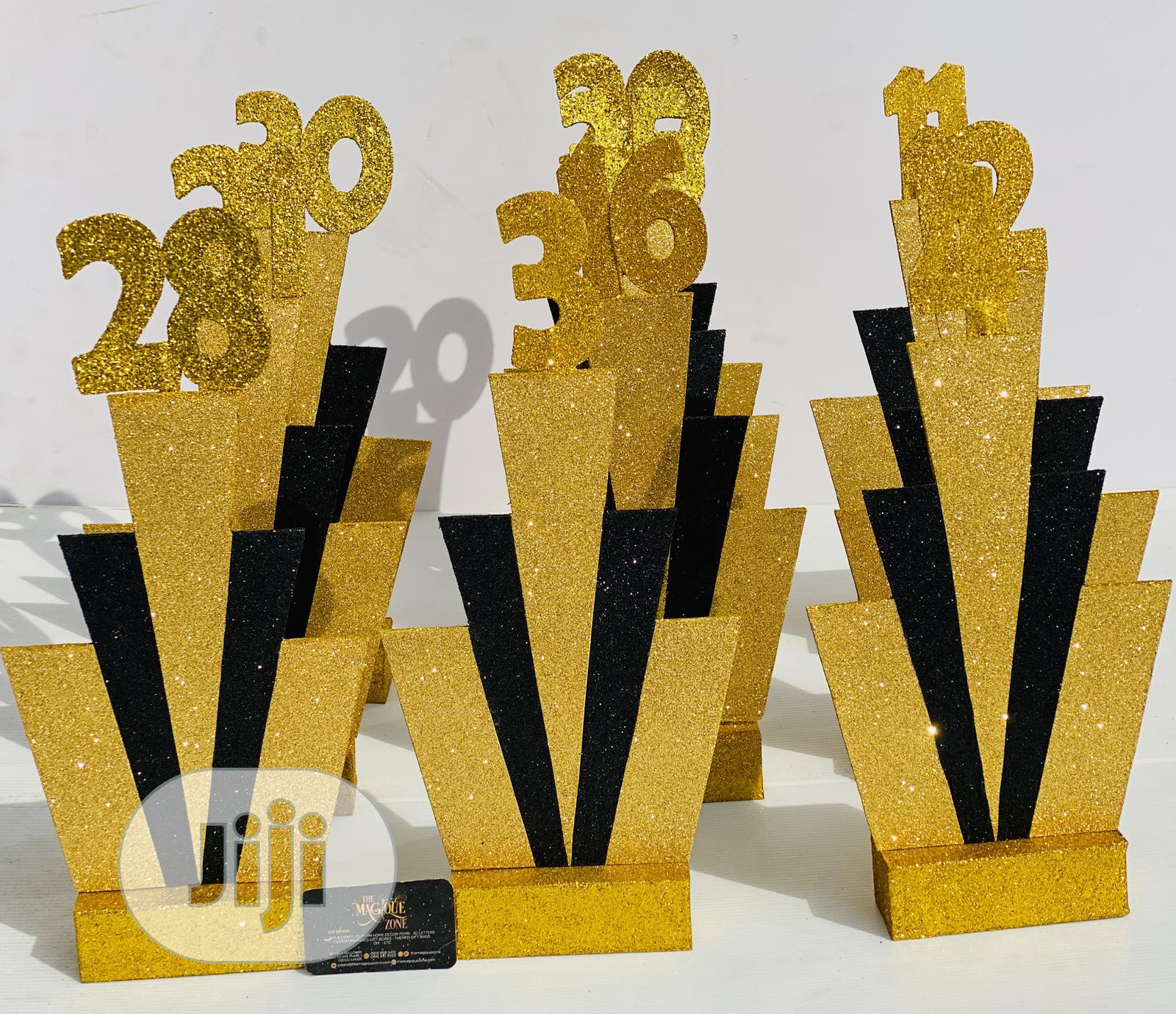 Archive: Geometry Themed Table Decor Party Prop