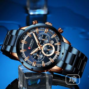 CURREN Blue Chain Strap Chronovraph Watch | Watches for sale in Rivers State, Port-Harcourt
