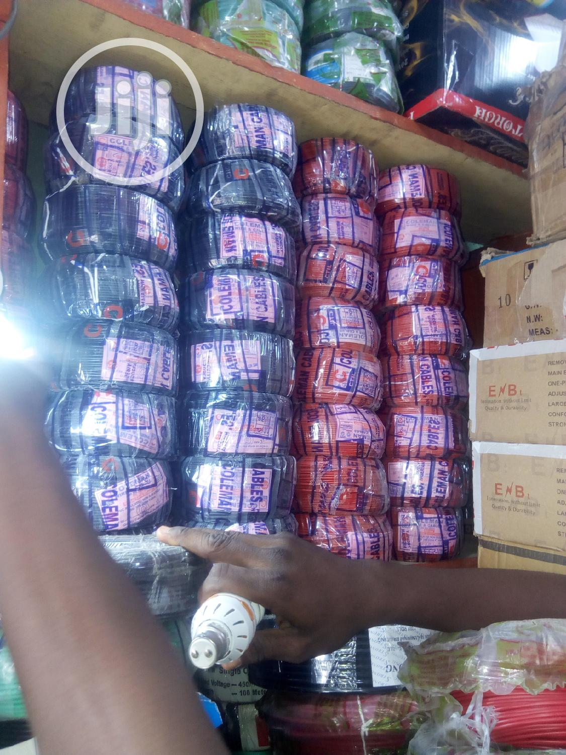 Pour Copper Of All Sizes Of Nigerian Cables In Stock, Coleman | Electrical Equipment for sale in Lagos Island, Lagos State, Nigeria