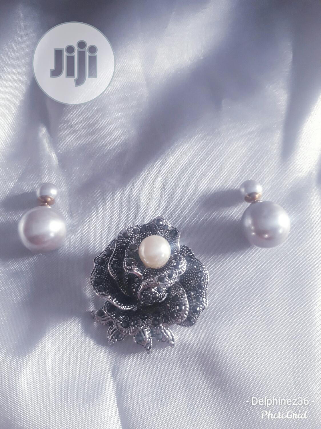 Combo Deal. Brooch And Earring | Jewelry for sale in Port-Harcourt, Rivers State, Nigeria