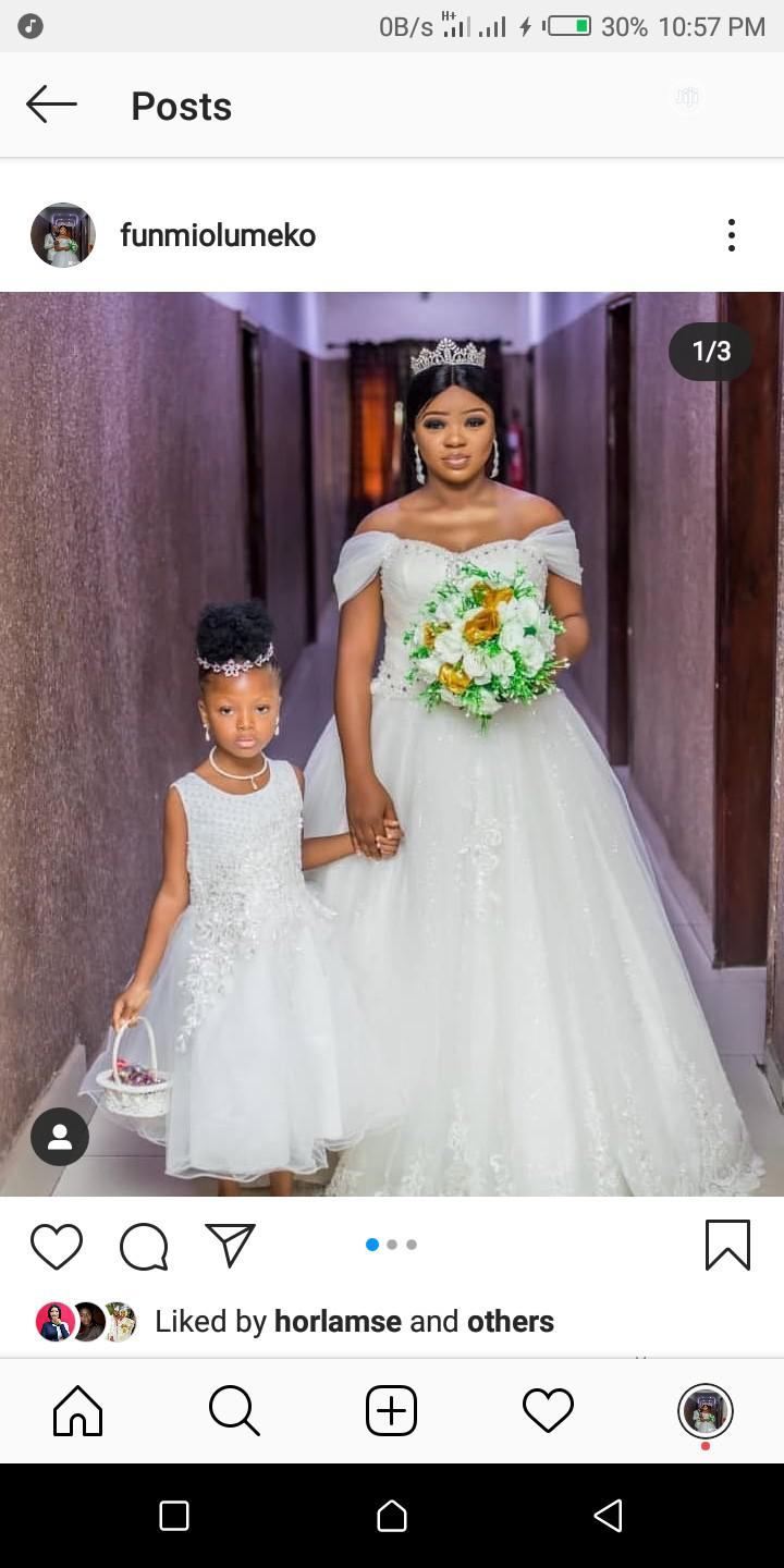 Wedding Dress With Veil | Wedding Wear & Accessories for sale in Surulere, Lagos State, Nigeria