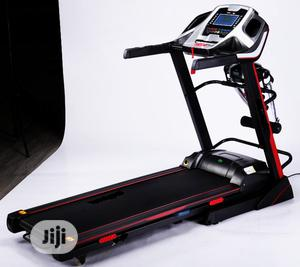 3hp Body Fit Treadmill With Massager And Dumbbell | Sports Equipment for sale in Lagos State, Surulere