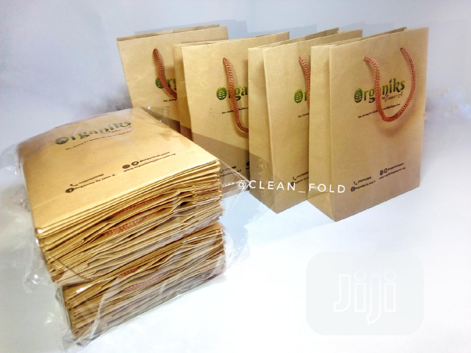 Small Brown Kraft Paper Bags (100gsm) For Product Packaging
