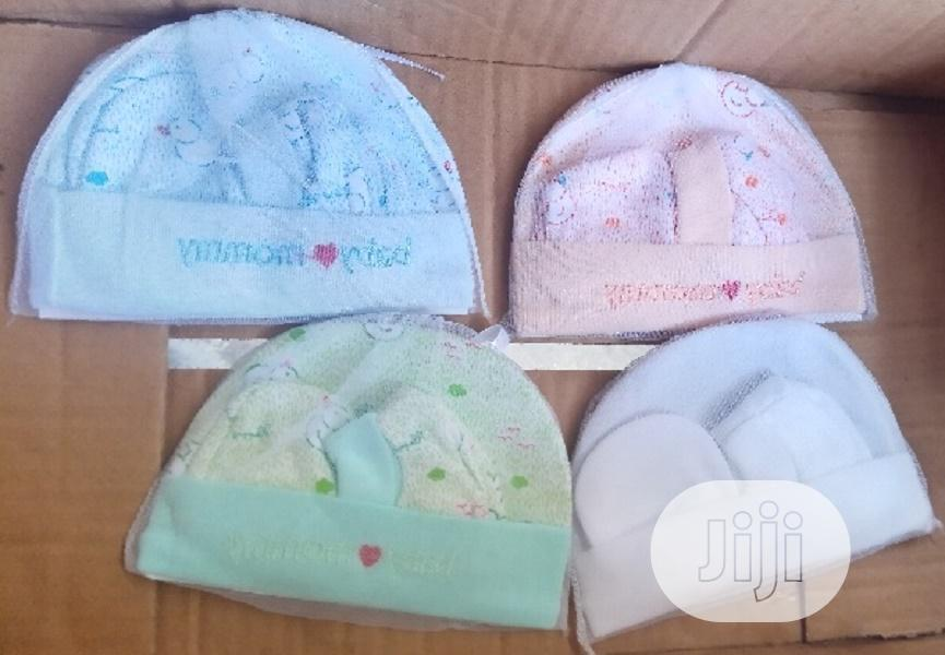 3pair Cutie Baby Cap,Booties And Mittens Set   Children's Clothing for sale in Ajah, Lagos State, Nigeria