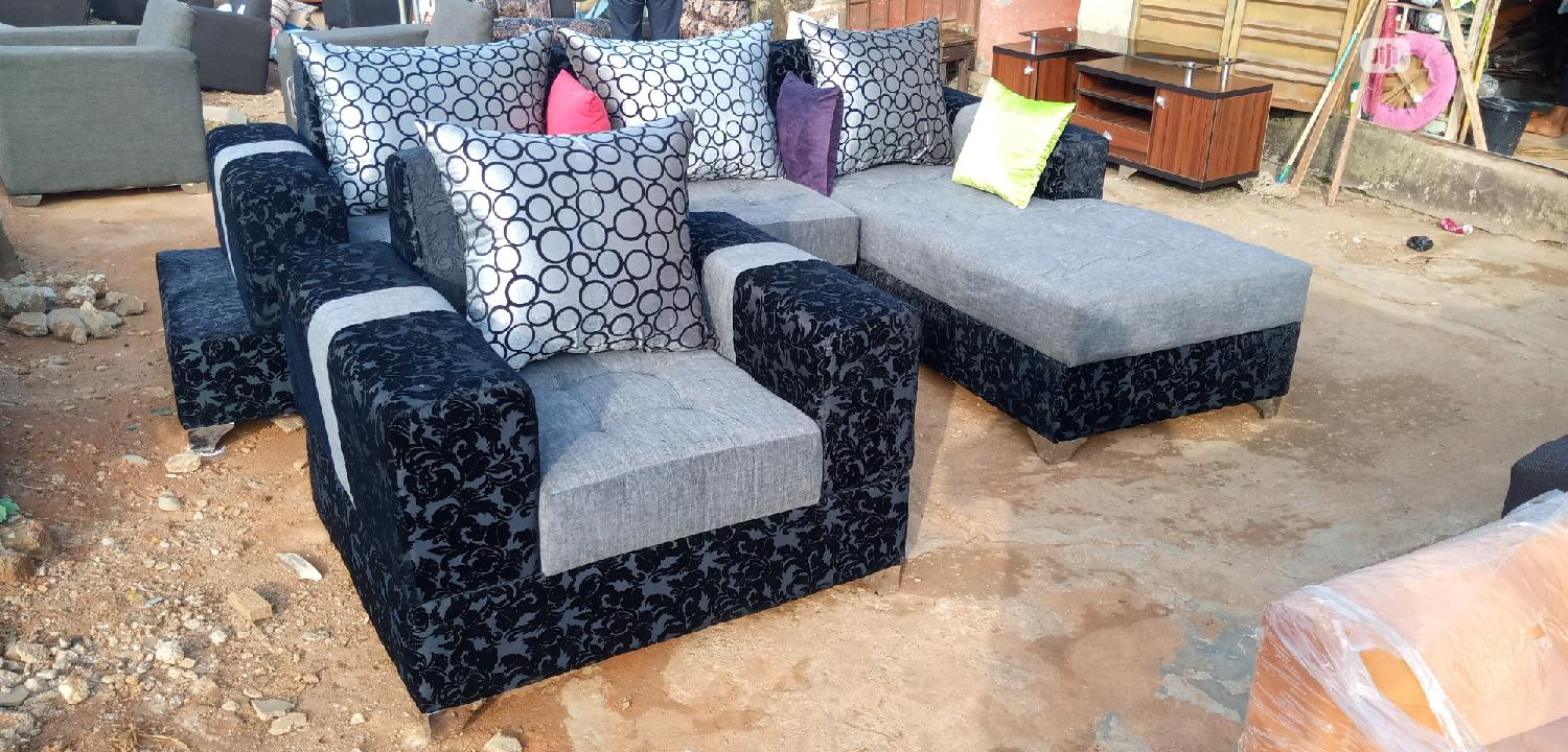 L Shape Chair Black | Furniture for sale in Ikeja, Lagos State, Nigeria
