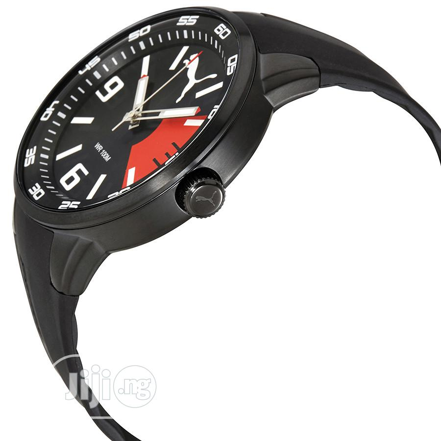 Puma Road Precision Black Dial Mens Rubber Watch PU | Watches for sale in Ikeja, Lagos State, Nigeria