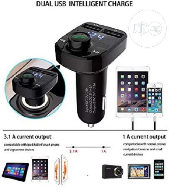Car-x8 Wireless Car FM Player, 1 USB Port Aux Cable Slot