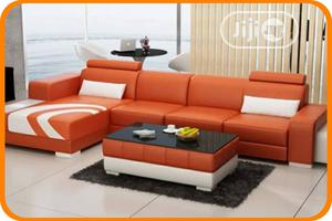 Set of L-Shaped Sofa With a Center Table | Furniture for sale in Lagos State, Ikoyi
