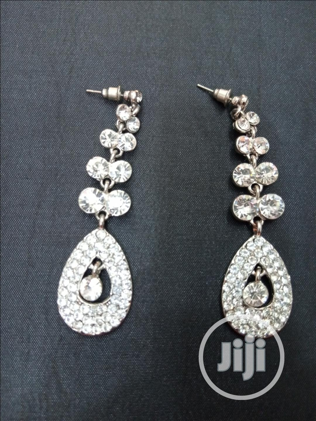 Quality Sliver Bridal Earring