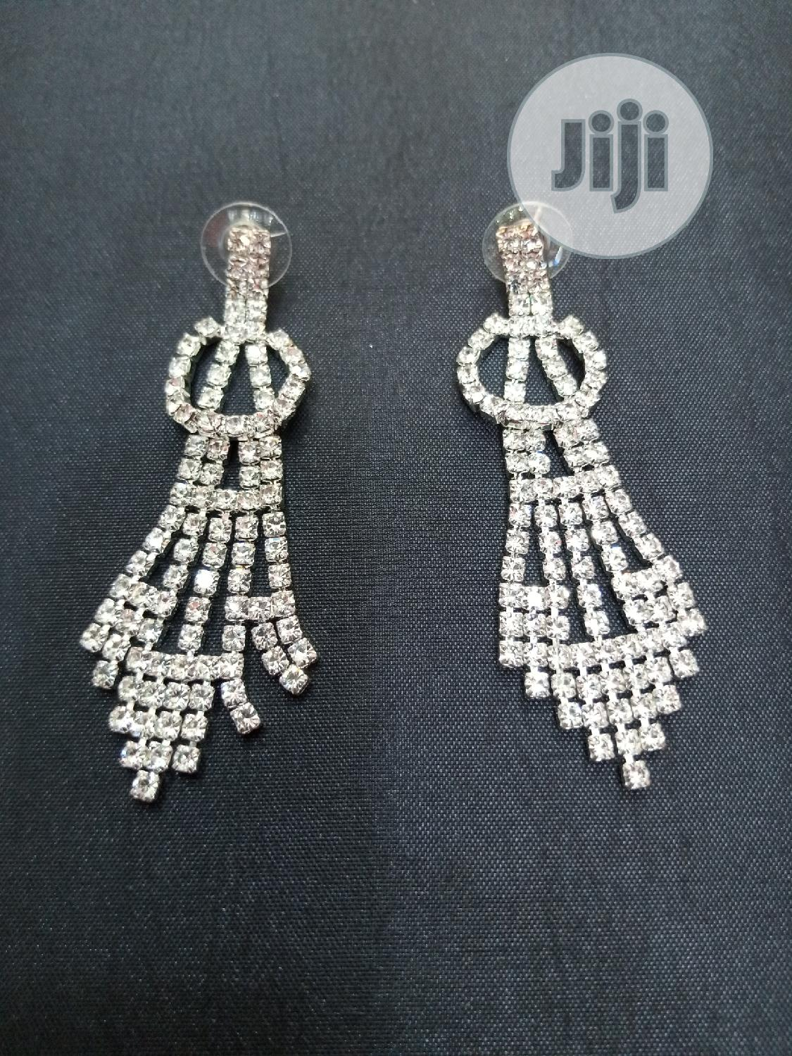 Classic Silver Bridal Earring