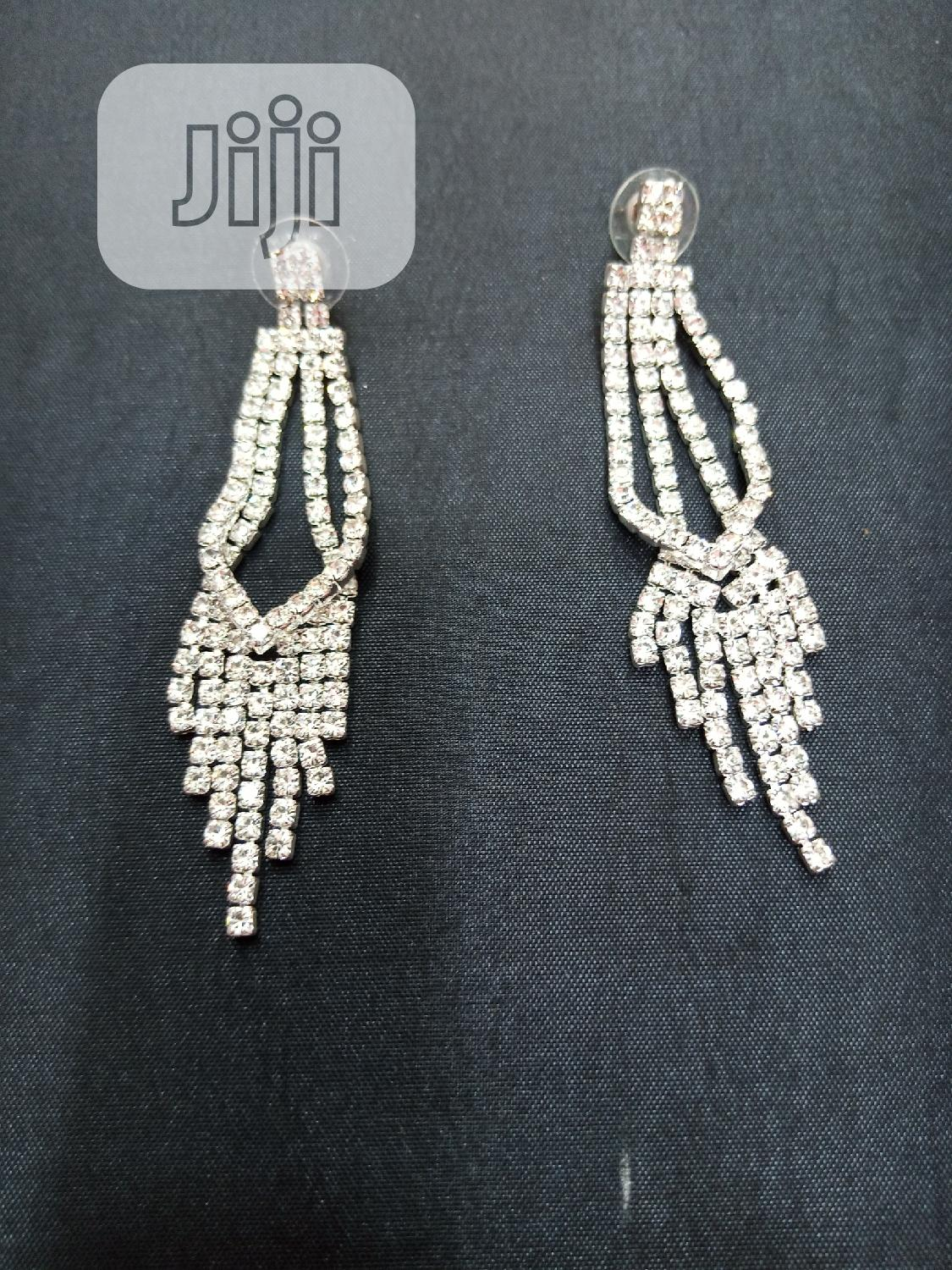 Classic Silver Bridal Earring | Wedding Wear & Accessories for sale in Wuse, Abuja (FCT) State, Nigeria