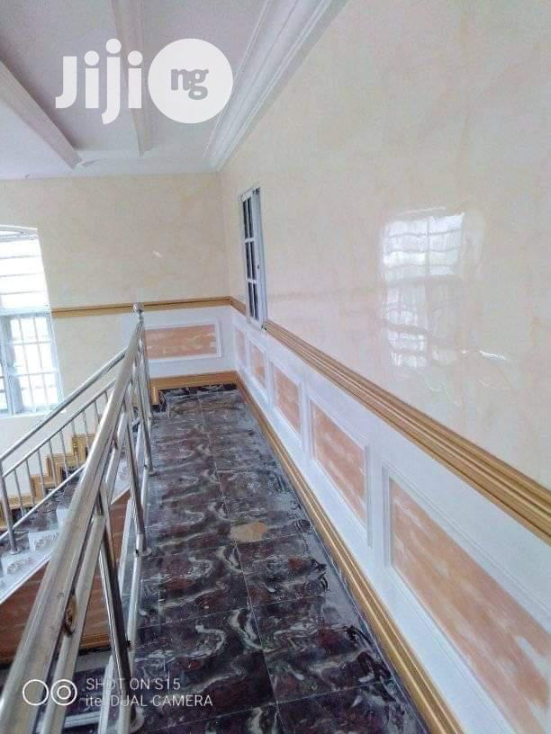 Full Pop Ceiling, Increte Stamped Flooring, Wall Painting