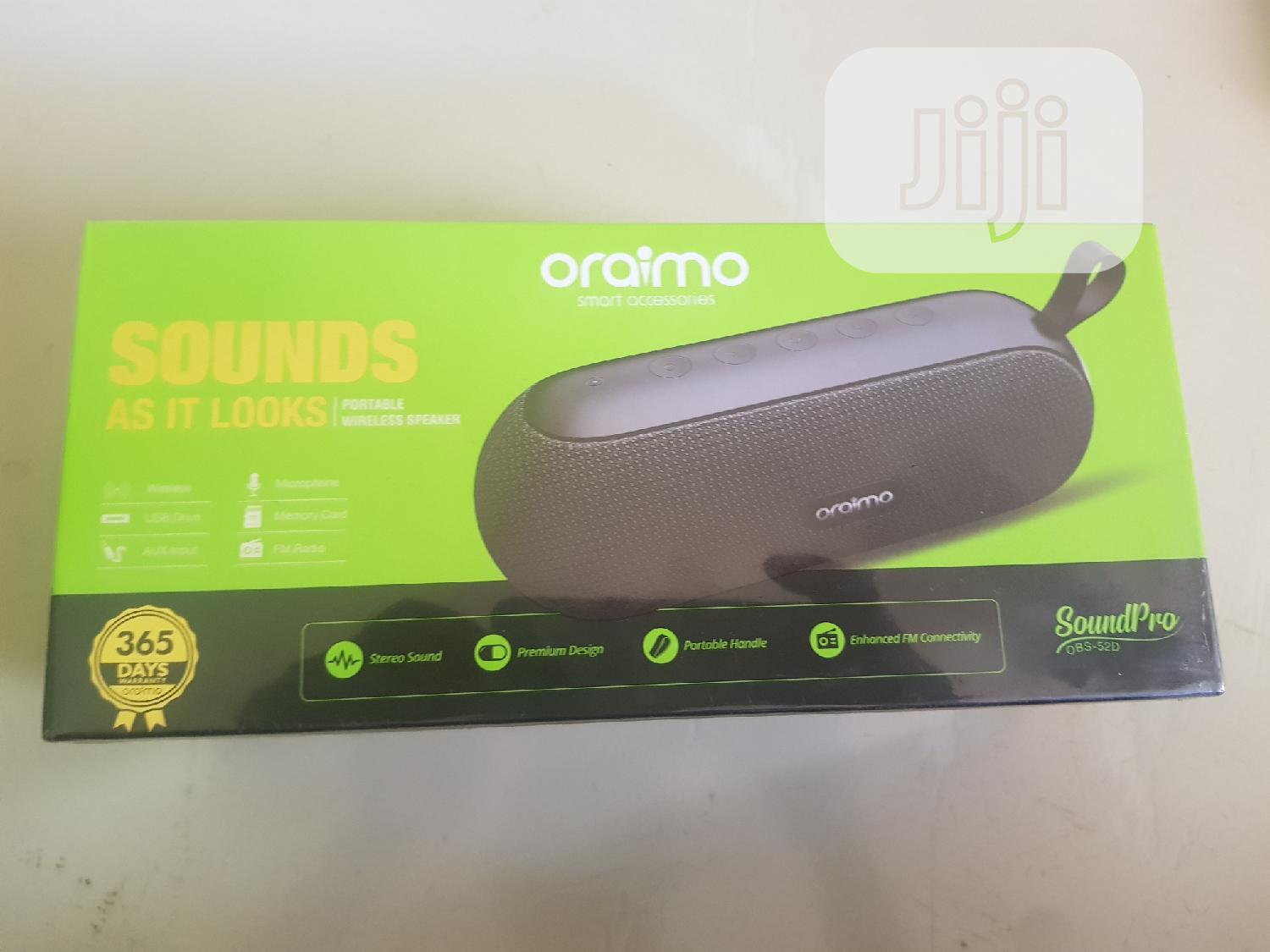 Oraimo Bluetooth Speaker | Audio & Music Equipment for sale in Ikotun/Igando, Lagos State, Nigeria
