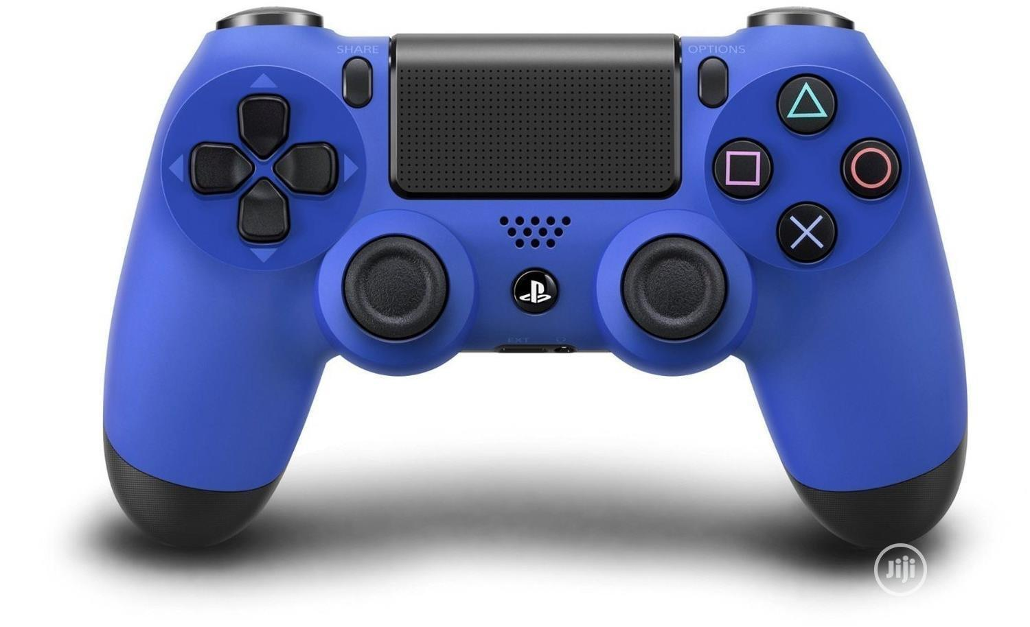 Sony Blue PS4 Dual Shock 4 Playstation 4 Controller | Accessories & Supplies for Electronics for sale in Ikeja, Lagos State, Nigeria