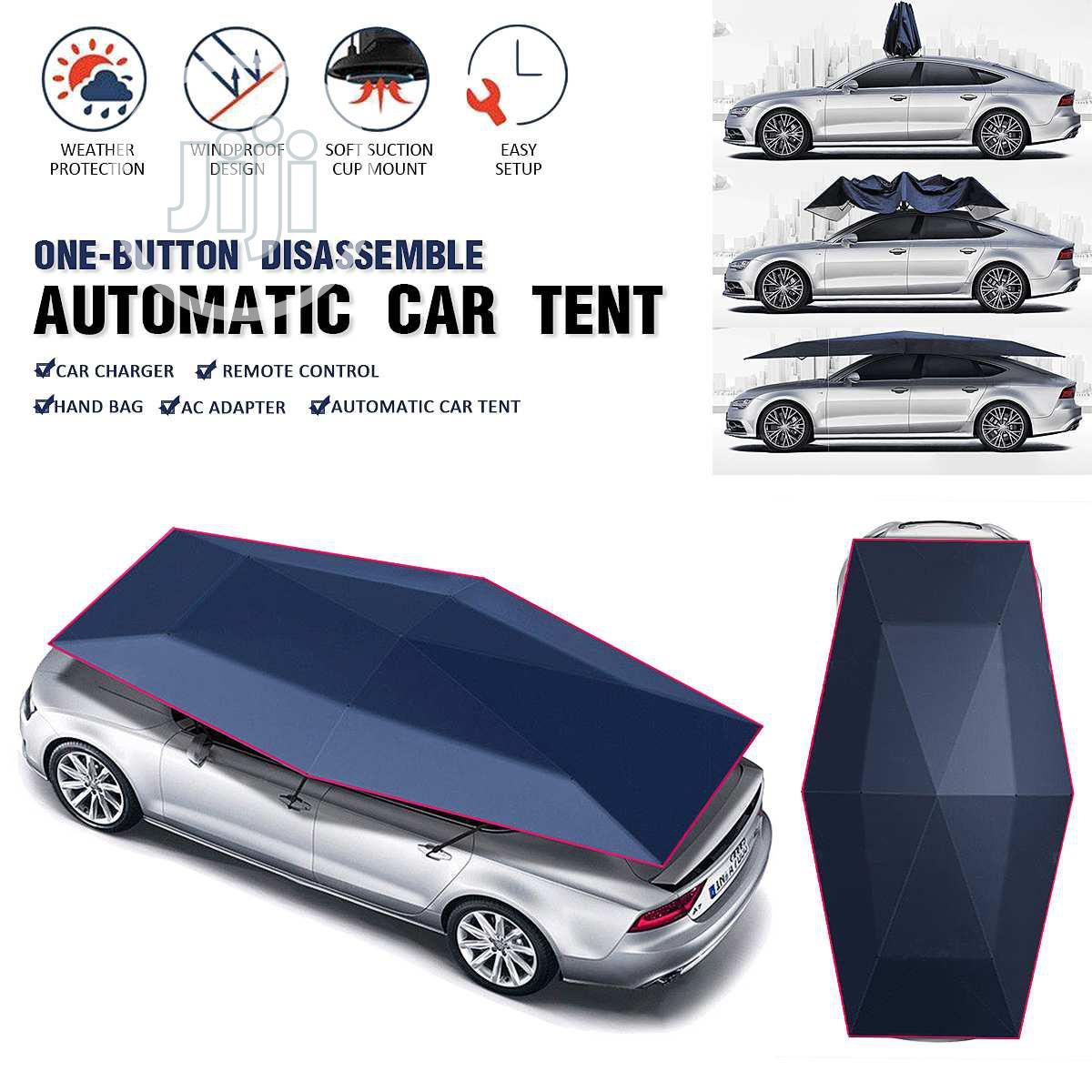 Remote Control Automatic Tent Waterproof Car Umbrella | Vehicle Parts & Accessories for sale in Surulere, Lagos State, Nigeria