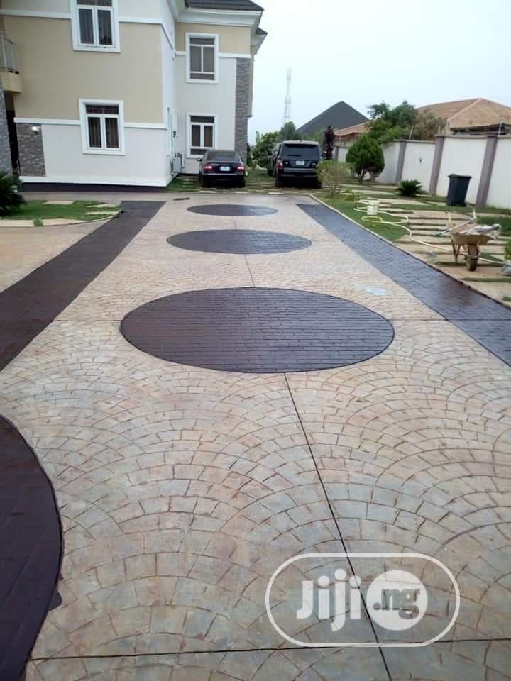 Excellent Stamp Concrete Floor Installation