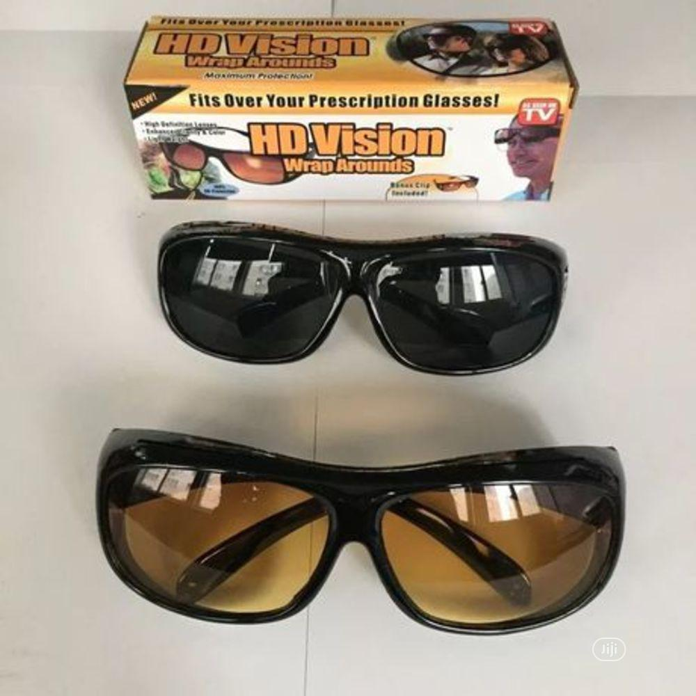 2 In 1 HD Night Vision Glasses | Clothing Accessories for sale in Ajah, Lagos State, Nigeria