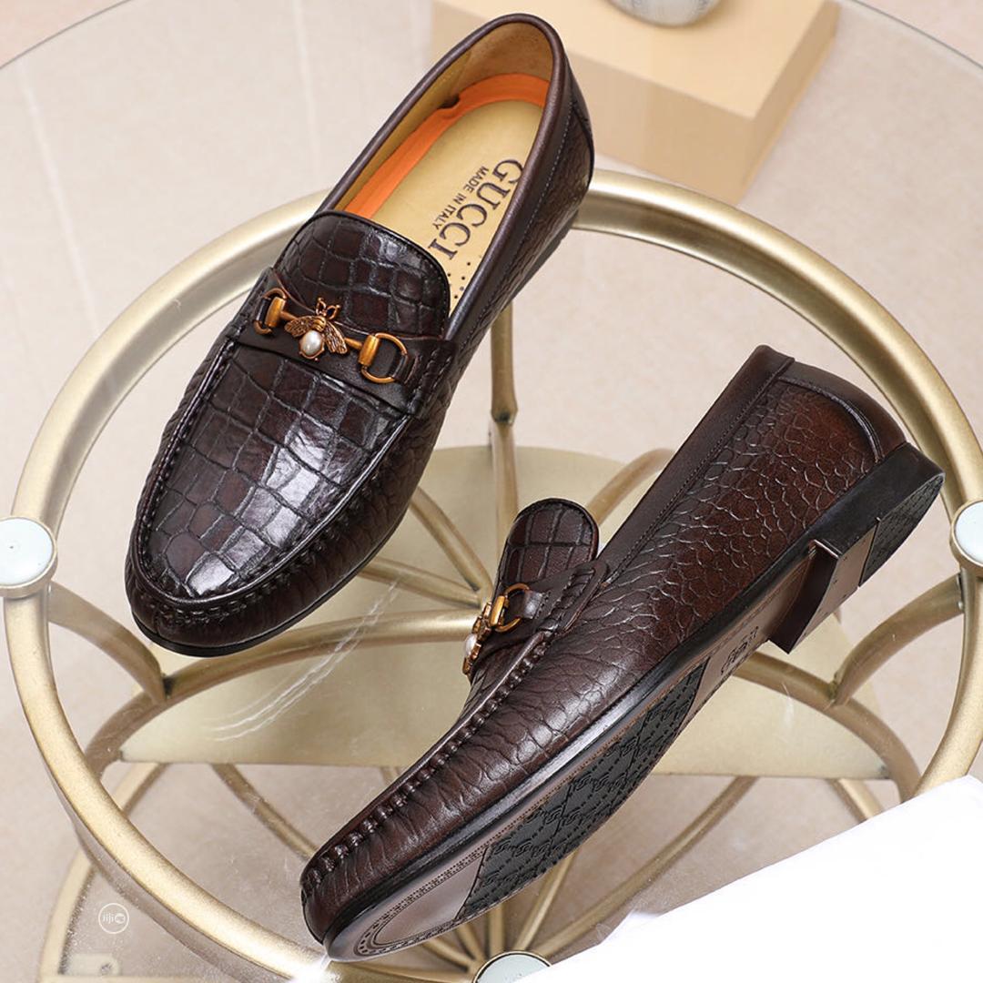 Quality Mens Original Flat Gucci Shoes